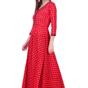 Red Print Gown