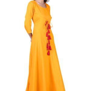 Mustard Front Dori Gown